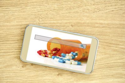 e-ordering and refill prescription online concept
